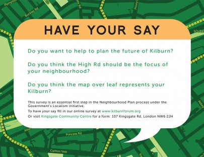 Kilburn Forum Flyer